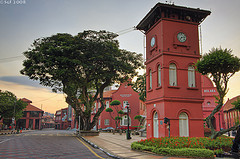 Le clocher d'une église de Malacca