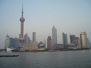 La tour de la Perle de l'Orient et la tour Jinmao dans le district de Pudong