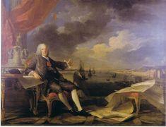 Marquis de Pombal par Louis-Michel van Loo et Claude-Joseph Vernet, 1767
