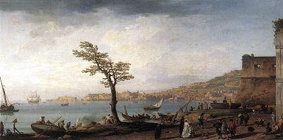 Vue de Naples avec le Vésuve (vers 1748)