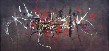 Les Capétiens partout, huile sur toile (2,5x6 m; 1954) de Georges Mathieu