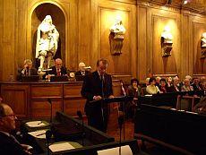 Michel Pébereau de l'Académie des sciences morales et politiques, 23 mars 2009