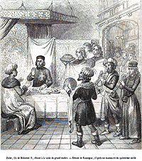 Zizim dînant chez Pierre d'Aubusson