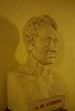 André-Marie Ampère, galerie des bustes à l'Institut de France