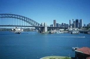 Le Harbour bridge à Sydney