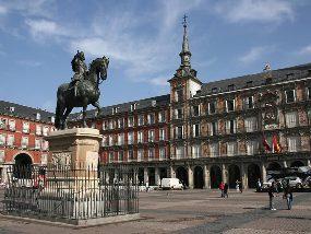 Philippe III sur la Plaza Mayor