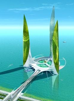 City of the Ocean (Emirats Arabes Unis), projet en cours de Jacques Rougerie