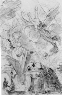Charlemagne implore Dieu le père de protéger le camp des chrétiens (chant XIV)