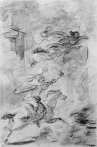 Au grand galop, Roland pénètre dans le palais d'Atlant (chant XII)