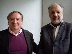 Gilles Veinstein et Henry Laurens, professeurs au Collège de France, le 8 avril 2009