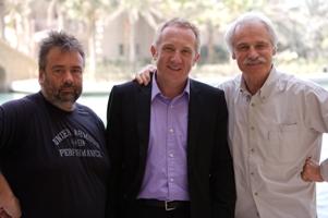 Luc Besson, Francois-Henri Pinault et Yann Arthus-Bertrand