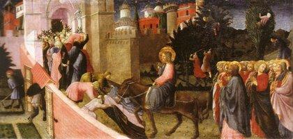 L'entrée du Christ dans Jérusalem. Musée Lindenau, Altenbourg