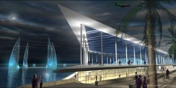 Musée d'Alexandrie, projet de l'architecte Jacques Rougerie