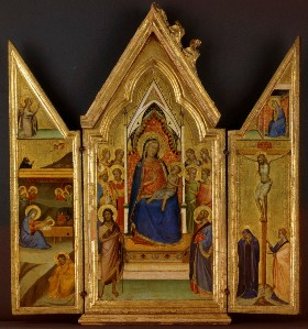 Bernardo DADDI – Triptyque avec la Vierge en Majesté, vers 1340-45, Musée Lindenau, Altenbourg
