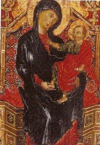 Deodato di ORLANDO, La Vierge à l'Enfant trônant entre deux Archanges