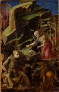 FILIPPO LIPPI – Saint Jérôme Pénitent et un jeune Frère Carme, vers 1435-1426. Musée Lindenau, Altenbourg