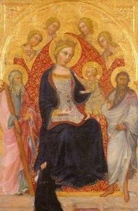 Paolo di Giovanni FEI - Vierge à l'Enfant, vers 1385-1390.  Musée Lindenau, Altenbourg