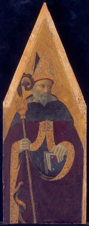 Pietro di Giovanni di AMBROGIO – Saint-Augustin vers 1435-1440, Musée Lindenau, Altenbourg