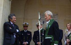Le ministre Jean-Louis Borloo et Jacques Rougerie de l'Académie des beaux-arts