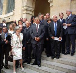 Le Comité d'Honneur pour l'épée de Jacques Rougerie, 3 juin 2009