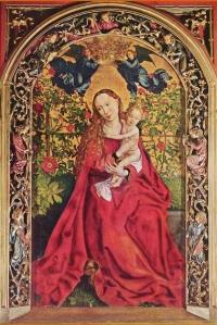 Martin Schongauer: la Vierge au buisson de roses, 1473