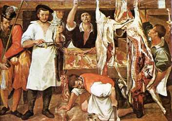 La boutique du boucher, 1580