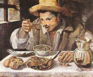 Le mangeur de fèves, 1580-90