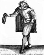 Sganarelle ou le Cocu imaginaire de Molière; gravure de Simonin