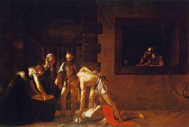 La décollation de saint Jean-Baptiste, Michelangelo Merisi da Caravaggio, 1608