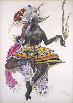 Etude de costume pour un danseur du Temple dans Le Dieu Bleu, 1912, Léon Bakst