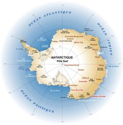 Carte de l'Antarctique