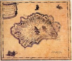 Carte de l'île Bourbon au XVI<sup>e<\/sup> siècle