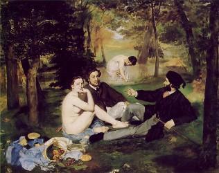 Le déjeuner sur l'herbe, Edouard Manet 1862-1863