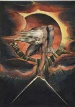 L'Europe prophétie: l'ancêtre des jours, 1794, eau-forte en relief de William Blake, University of Manchester