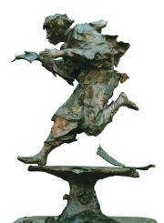 Gualtiero Busato, Grande Etude pour la Fontaine du Messager - F34, 2000-2001, Bronze cire perdue III:VIII, fonte Coubertin, H.140 cm, Collection particulière Dubaï