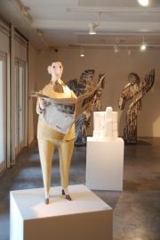 Jean-Jules Chasse-Pot, Le Quotidien, 2008, papier mâché, 135 x 85 cm