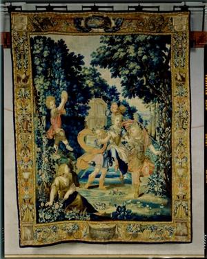 Manufacture de Beauvais Tenture des Jeux d'enfants (attribué à Florent Damoiselet): la danse Seconde moitié du XVIIe siècle