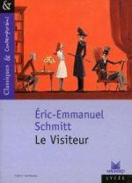 La couverture de la pièce de théâtre à succès Le visiteur d'Eric-Emmanuel Schmitt