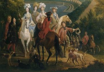 Chasse au faucon, duchesse de Bourgogne