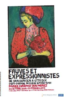 Affiche de l'exposition avec le tableau d'Alexej Von Jawlensky, Jeune fille aux pivoines