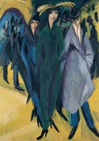 Ernst Ludwig Kirchner, Femmes dans la rue, 1914 huile sur toile 126 x 90 cm Von der Heydt-Museum Wuppertal