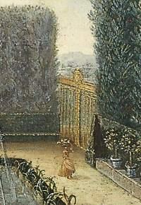 La belle jardinière, détail du Bosquet du Marais