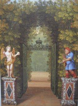 Labyrinthe jouxtant l'Orangerie