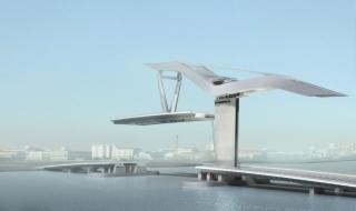 Projet architectural d'Aymeric Zublena, Pont mobile Bacalan à Bordeaux, 2009