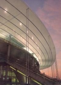 Stade de France à Saint- Denis, escalier monumental, architectes A. Zublena, M.Macary, 1998