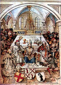Inauguration de l'Université de Bâle en 1460.