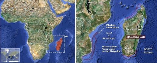 Carte des expéditions (Madagascar)