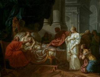 Jacques-Louis David, Erasistrate découvrant la cause de la maladie d'Antiochus, 1774