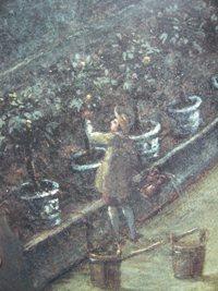 Jardinier, détail du Bosquet du Marais