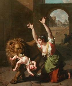 Nicolas-André Monsiau, Le Lion de Florence, 1801